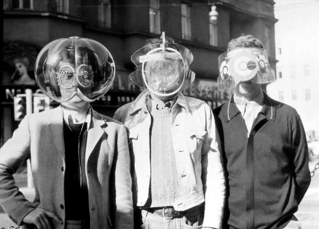 Haus-Rucker-Co. Laurids, Zamp and Pinter with 'Environment Transformern (Flyhead, Viewatomizer and Drizzler)' 1968, from the 'Mind Expander project'