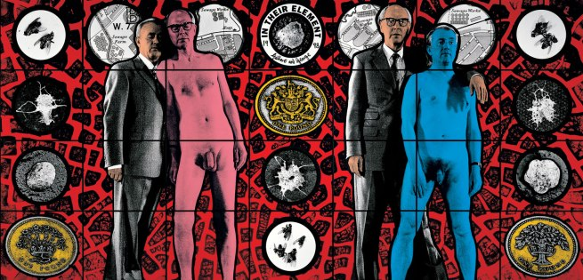 Gilbert & George. 'IN THEIR ELEMENT' 1988