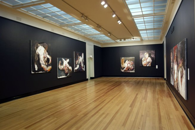 Installation view of the exhibition 'Ben Quilty: After Afghanistan' at the Castlemaine Art Gallery