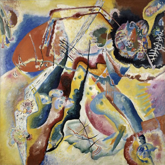 Vassily Kandinsky. 'Bild mit rotem Fleck [Tableau à la tache rouge / Image with red spot]' 25 February 1914