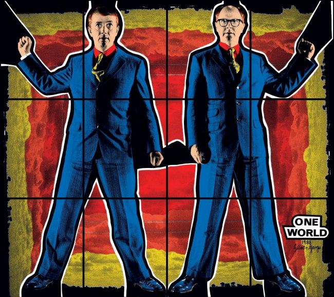 Gilbert & George. 'ONE WORLD' 1988