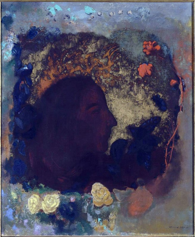 Odilon Redon. 'Portrait de Paul Gauguin' 1903-1906