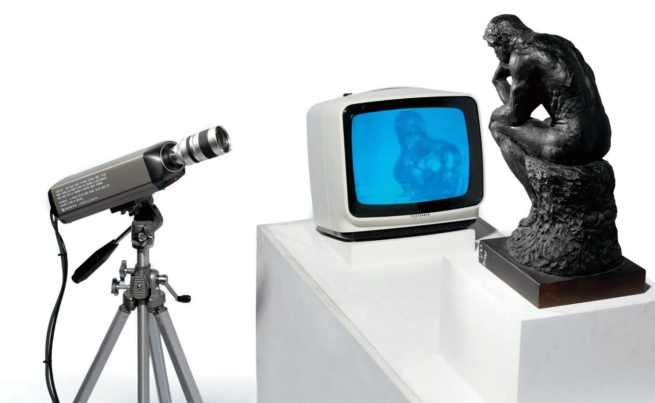 Nam June Paik. 'TV Rodin' 1976-1978 (detail)