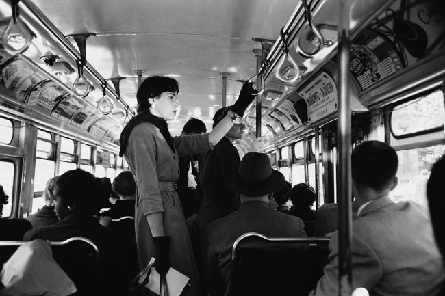 Werner Bischof (Swiss, 1916-1954) 'Bus commute, New York' 1953
