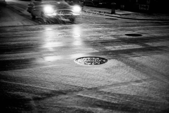 Werner Bischof (Swiss, 1916-1954) 'Car in snowfall, New York' 1953