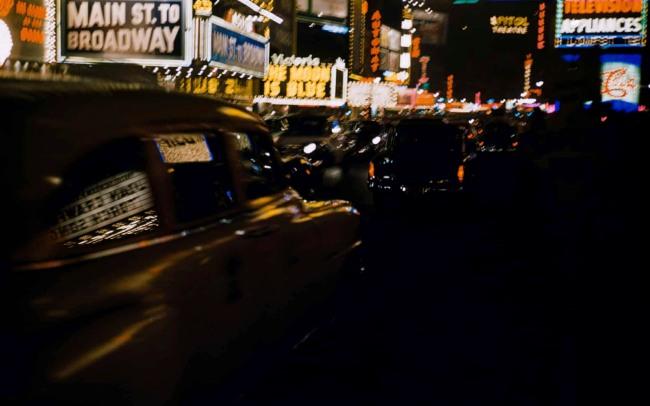 Werner Bischof (Swiss, 1916-1954) 'Cruising at night' New York 1953
