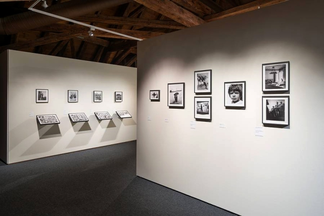 Installation view of the exhibition 'Werner Bischof: Point of View' and 'Helvetica' at the Musée de l'Elysée, Lausanne