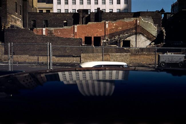 Werner Bischof (Swiss, 1916-1954) 'Reflecting house, New York' 1953