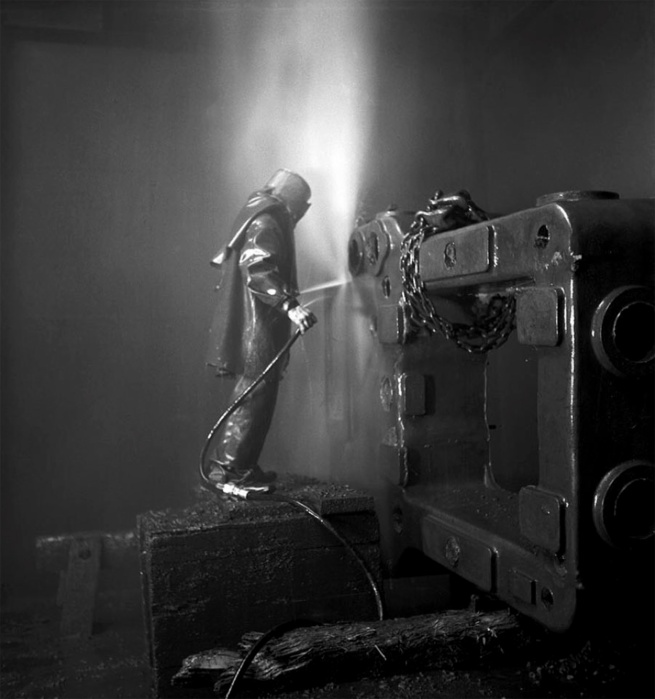 Werner Bischof (1916 - 1954) 'The Swiss Worker at the steelworks of Winterthur' 1943