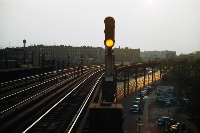 Werner Bischof (Swiss, 1916-1954) 'Subway signal, New York' 1953
