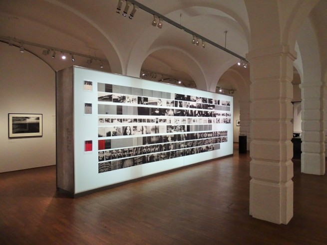 Installation photograph of the exhibition 'Provoke: Between Protest and Performance - Photography in Japan 1960 - 1975' at the Albertina, Vienna