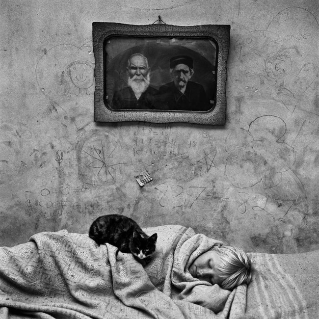 Roger Ballen. 'Portrait of sleeping girl' 2000