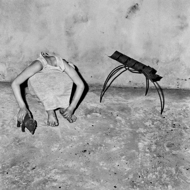 Roger Ballen. 'Head inside shirt' 2001