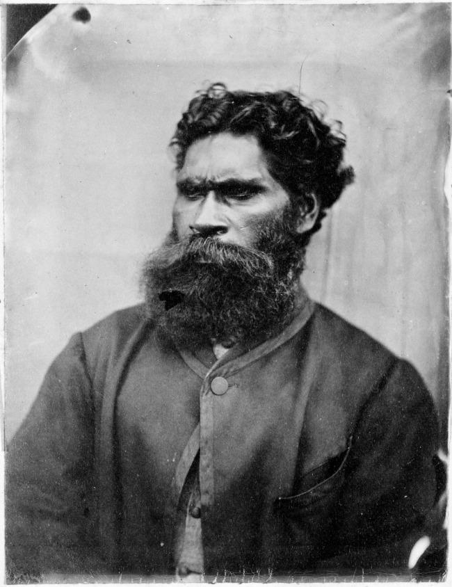 Carl Walter (Australian, 1831-1907) 'William Barak - age 42 - Yarra Yarra Tribe' 1866