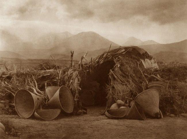Edward S. Curtis (1868 - 1952) 'A Mono Home' 1924