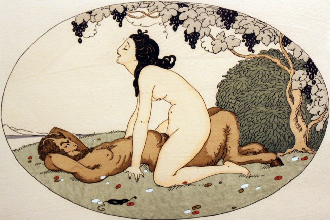 Illustration by Gerda Wegener for the erotic book 'Les Délassements de l'Éros' 1925