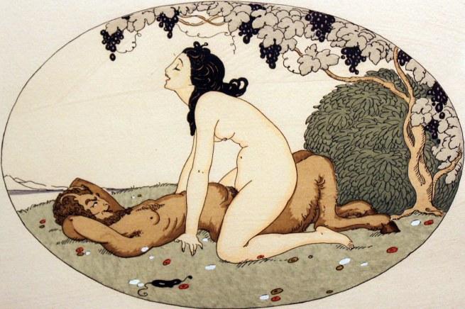 Illustration by Gerda Wegener for the erotic book 'Les Délassements de l'Éros' 1925