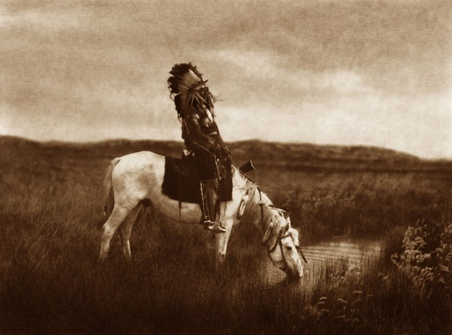 Edward S. Curtis (1868 - 1952) 'An Oasis in the Badlands' 1905