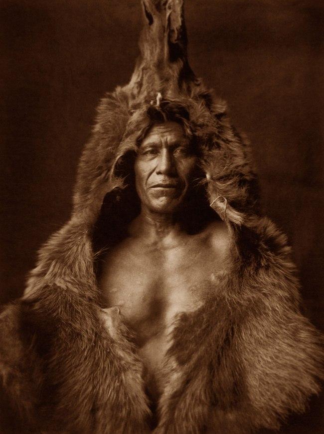 Edward S. Curtis (1868 - 1952) 'Bear's Belly - Arikara' 1908