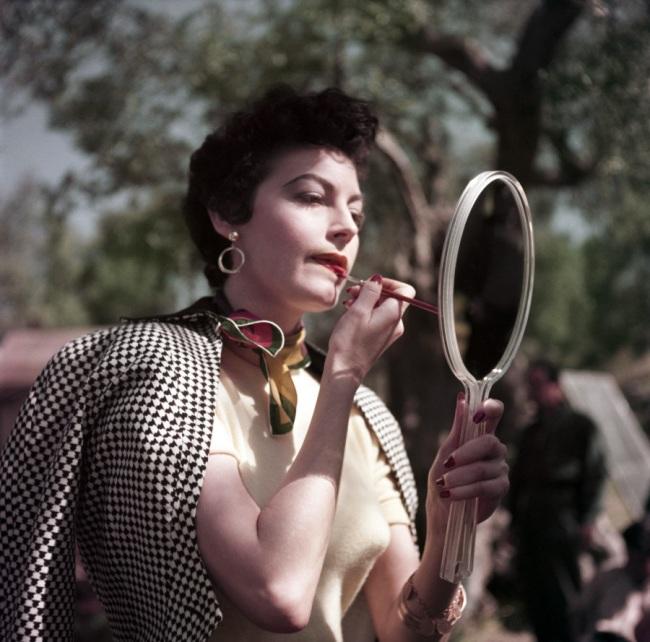Robert Capa (1913 - 1954) 'Ava Gardner on the set of The Barefoot Contessa, Tivoli, Italy' 1954
