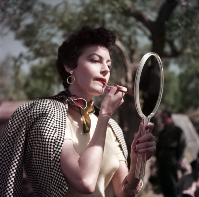 Robert Capa (1913 - 1954) 'Ava Gardner on the set of The Barefoot Contessa, Tivoli, Italy' 1954