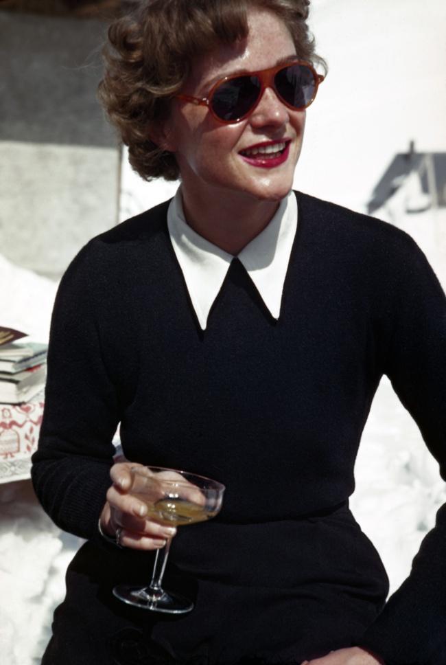 Robert Capa (1913 - 1954) 'Woman at an ice bar, Zürs, Austria' 1949-1950