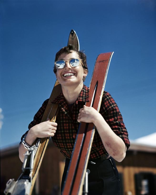 Robert Capa (1913 - 1954) 'American Judith Stanton, Zermatt, Switzerland' 1950