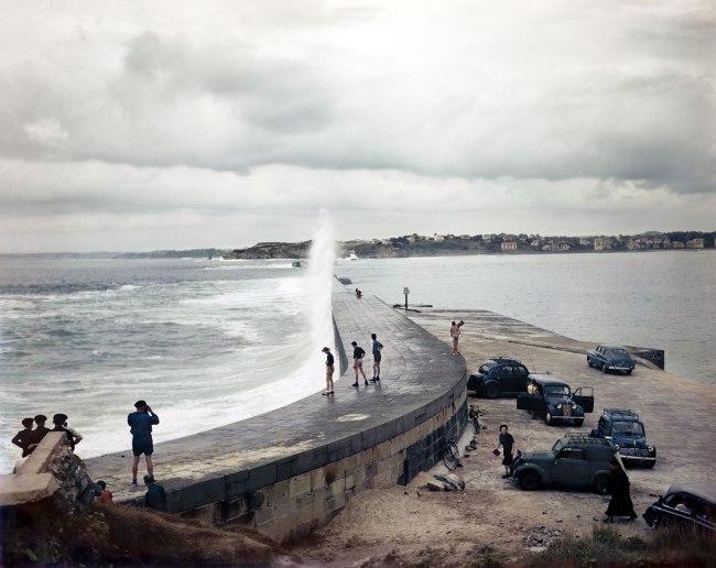 Robert Capa (1913 - 1954) 'Jetty, Socoa, near Saint-Jean-de-Luz, France' August 1951
