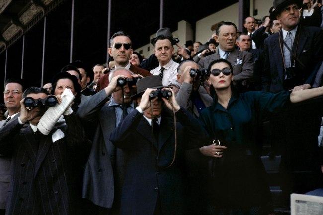 Robert Capa (1913 - 1954) 'Spectators at the Longchamp Racecourse, Paris, France' c. 1952