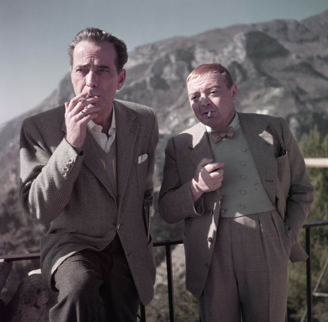 Robert Capa (1913 - 1954) 'Humphrey Bogart and Peter Lorre on the set of Beat the Devil, Ravello, Italy' April 1953