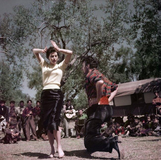 Robert Capa (1913 - 1954) 'Ava Gardner on the set of 'The Barefoot Contessa', Tivoli, Italy' 1954