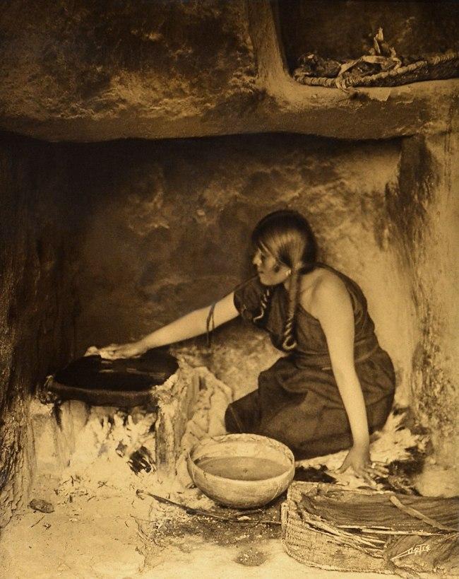 Edward S. Curtis (1868 - 1952) 'The Piki Maker' 1906
