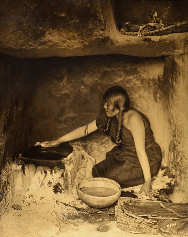 Edward S. Curtis (1868 - 1952) 'The Piki Maker' 1906