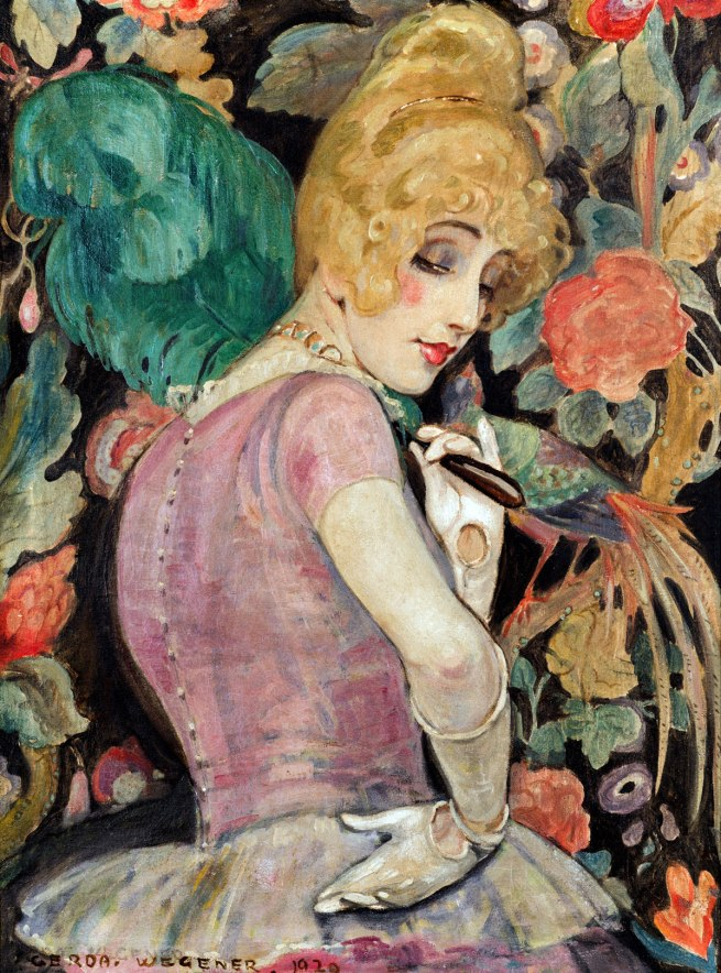 Gerda Wegener. 'Lili with a Feather Fan' 1920