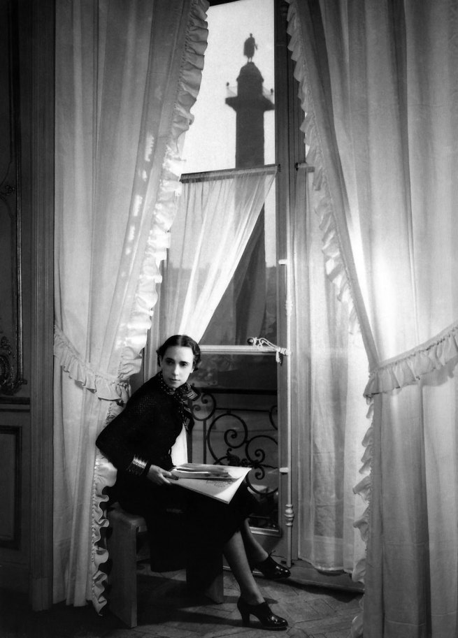 François Kollar. 'Haute couturière Elsa Schiaparelli in a window of her showroom at 21 Place Vendôme in Paris' 1938