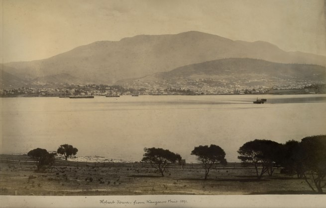 Unknown photographer (Australian) 'Hobart Town - from Kangaroo Point 1891' 1891