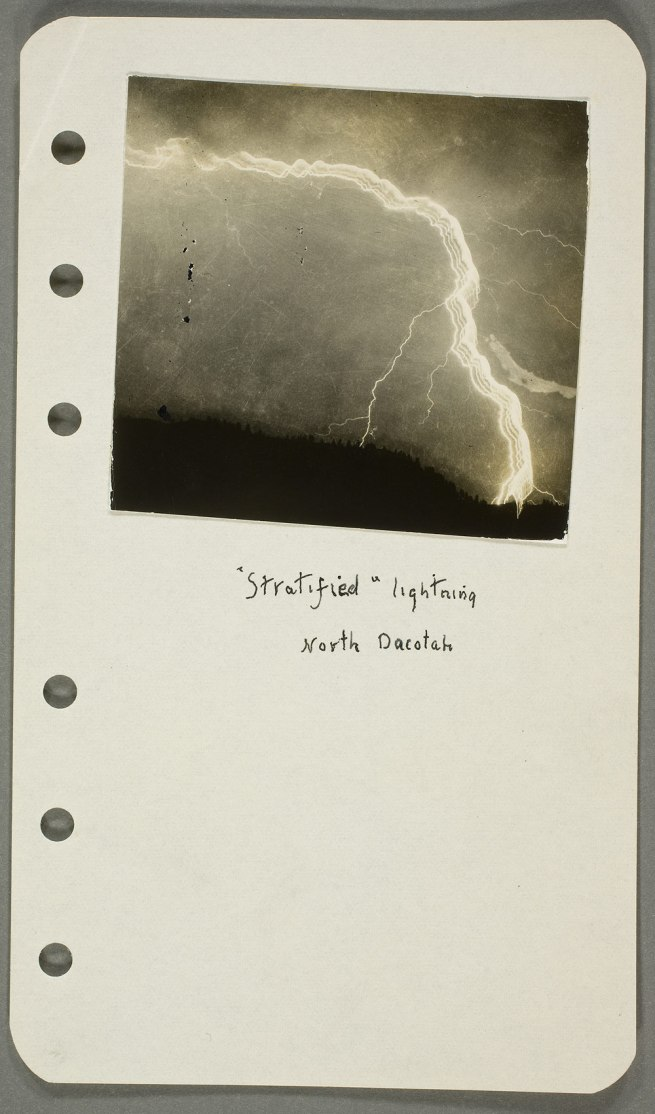 William N. Jennings (American, b. England, 1860-1946) 'Notebook pages with photographs of lightning' c. 1887