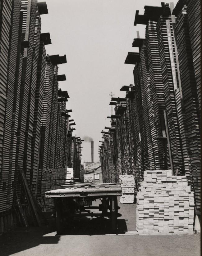 François Kollar. 'Untitled [Emplacement de traverses, usine Cima, Croix]' c. 1954