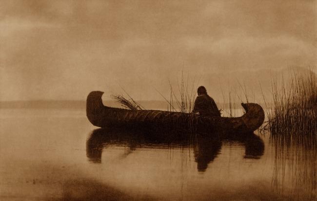 Edward S. Curtis (1868 - 1952) 'Kutenai Duck Hunter' 1910