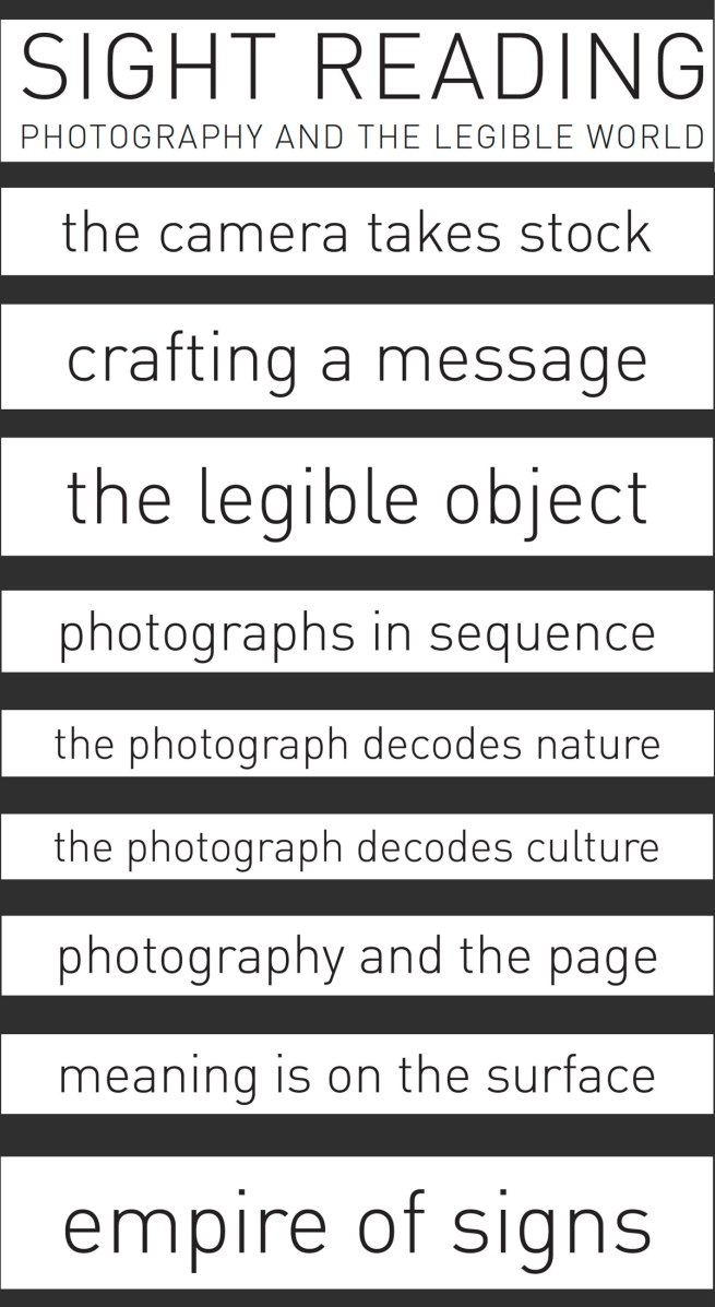 'Sight Reading: Photography and the Legible World' exhibition sections