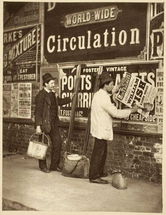 John Thomson (Scottish, 1837-1921) 'Street Advertising' 1877