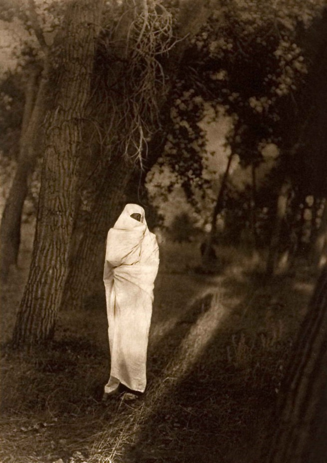 Edward S. Curtis (1868 - 1952) 'Waiting in the Forest - Cheyenne' 1910