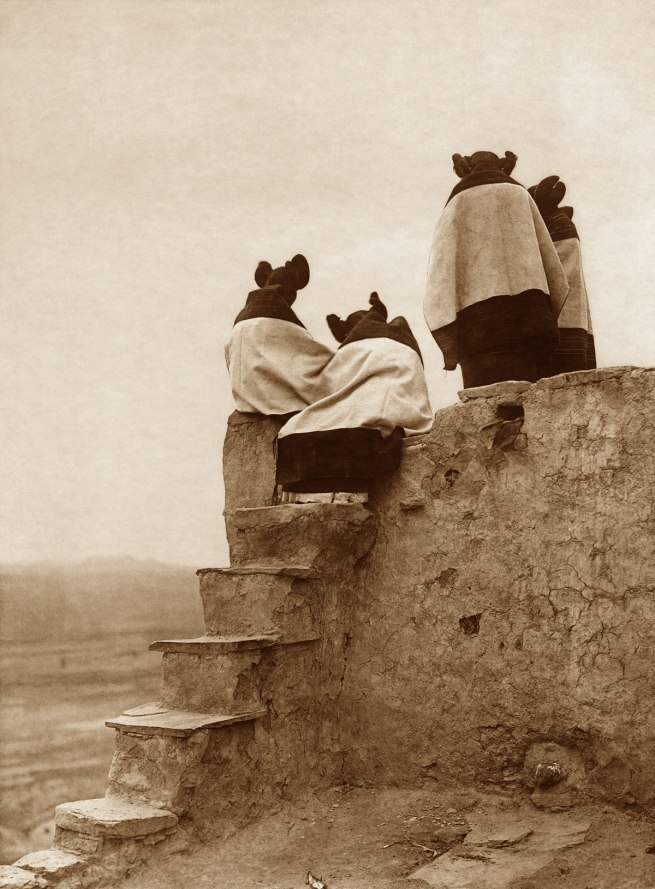 Edward S. Curtis (1868 - 1952) 'Watching the Dancers' 1906