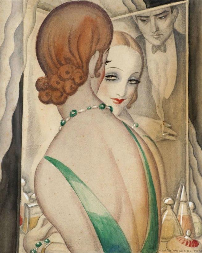 Gerda Wegener. 'At the mirror' 1931-1936