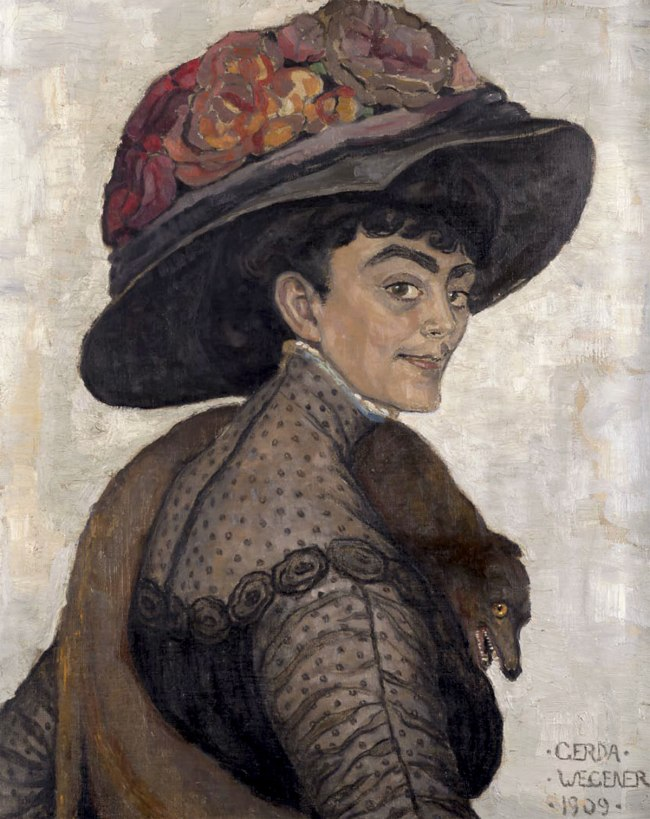 Gerda Wegener. 'Lady in a large hat' 1909