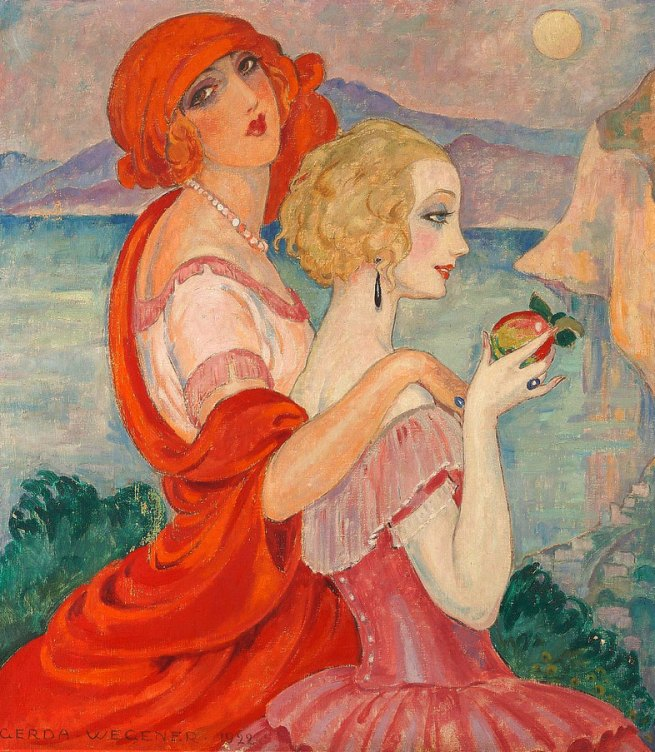 Gerda Wegener. 'Sur la route d'Anacapri (On the Way to Anacapri)' 1922