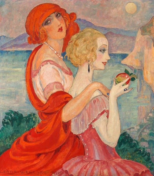 Gerda Wegener. 'Sur la route d'Anacapri (On the Way to Anacapri)' 1922