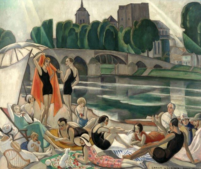 Gerda Wegener. 'On the banks of the Loire' (the artists' colony at Beaugency), Paris, 1926