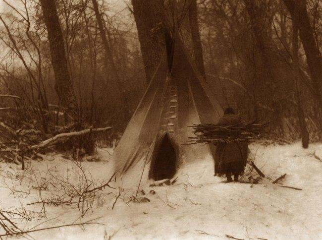 Edward S. Curtis (1868 - 1952) 'Winter - Apsaroke' 1908