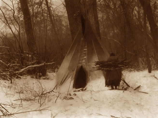 Edward S. Curtis (1868 - 1952) 'Winter - Apsaroke' 1908